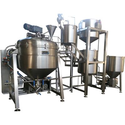 Cream filling and Gel Vacuum mixer Homogenizer
